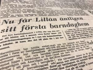 Ur NA 10 juni 1969: Härliga nyheter för småbarnsfamiljer i Lillån, norr om Örebro.