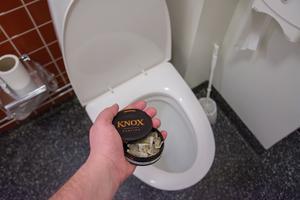 Snus och snuspluppar får inte spolas ner i toaletten. Våtservetter och hushållspapper får inte heller spolas ner.