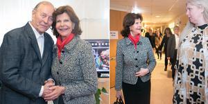 Drottning Silvia besökte Lotsen, som var den hundrade verksamheten att få Silviahemmets certifiering. En av de boende hon träffade var Robert Sving. Till höger guidas drottningen av enhetschef Helen Roth.
