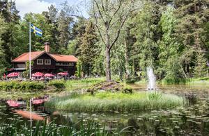Stadsparken började anläggas 1898 av Falu planteringssällskap. 1970 såldes parken till landstinget. I Ryggåsstugan finns en sommarservering.
