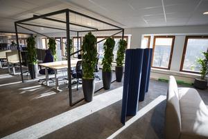 Det nya kontoret är flexibelt med många olika mötesplatser.