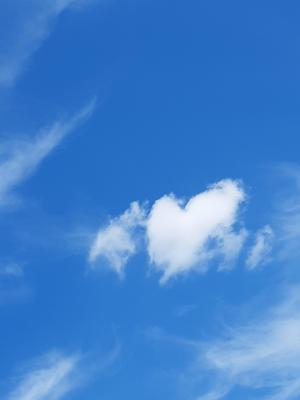 Tittade upp emot himlen såg hjärtat. Bild: Lotta Berglund