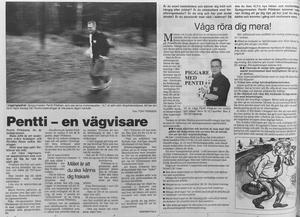 Pentti tipsar om motion och hälsa i VLT 1993.