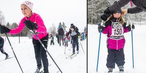Trots ett något isigt underlag tog barnen sig runt längdspåret i Alfta.
