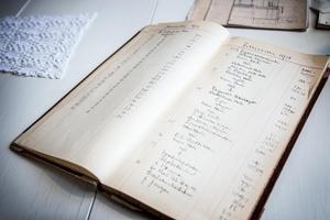 Noteringar i kassaboken från januari 1918.