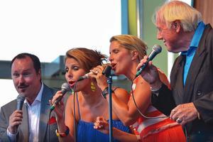 Peter Asplund, Vivian Buczek, Viktoria Tolstoy och Svante Thuresson i Jazz Vocal Unit spelar i årets sensommarjazz. Foto: Pressfoto