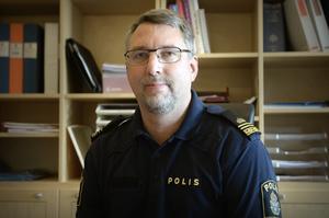 Erik Bylund, förundersökningsledare vid Kramforspolisen