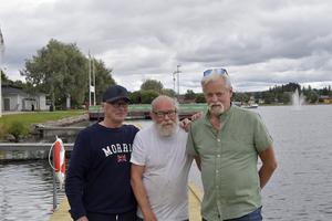 Redo för VM på Saxviken är trion Mats Enkler, Olle Björkman och Tomas Lind.