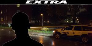 En man är anhållen misstänkt för mordförsök på en man på Bullermyren i Borlänge under onsdagskvällen. Bilden är tagen vid det som polisen först trodde var brottsplatsen.