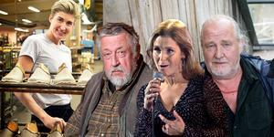 Plura, Leif G.W. Persson, Lars Winnerbäck och Helen Sjöholm – alla går de i slippers tillverkade i Docksta.