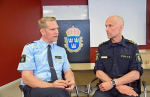 Josef Wiklund och Thomas Nyberg berättar att det var kris inom polisen i Västernorrland för ett par år sedan. Men nu har det vänt, säger de.
