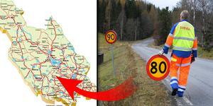 Trafikverket föreslår hastighetssänkningar på flera vägsträckor i länet. Montagefoton: Johan Ardefors, Kart-Bosse/DD