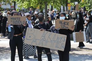 Antirasistdemonstration i Göteborg. Foto. Adam Ihse/TT