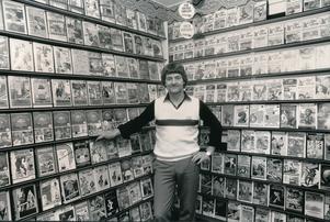 Sören Åström i Videohallen 1983. Bild: Gun Wigh.