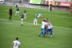 Värnamo kunde tillslut vinna matchen med 1-0, efter att Pär Cederquist med matchens sista spark gett laget ledningen.