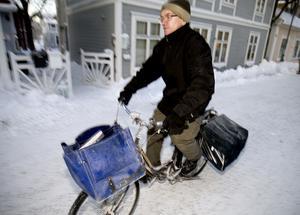 Lars-Olof Pettersson har delat ut tidningen varje morgon sedan 1990.