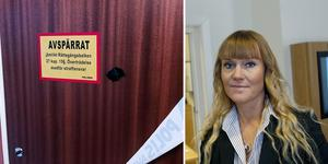 Den lägenhet där de misstänkte greps spärrades av. Åklagare Therese Stensson leder förundersökningen. Foto: Simon Larsson/TT
