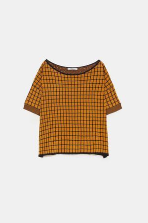 7. Stickad tröja, 349 kronor på Zara.
