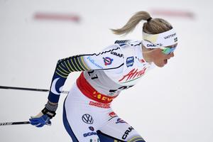 Den unga skidstjärnan Frida Karlsson har fått tävlingsförbud. Foto: Vesa Moilanen/Lehtikuva/TT