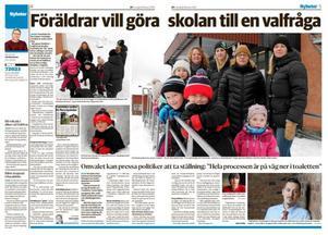 I DT den 16 februari kunde vi berätta om oron bland föräldrarna i Linghed över framtiden för byskolan.
