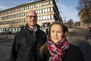 David Harrysson och Susann Sandegård räknar med gott om jobb för konsultfirman WSP i Gävle under de kommande åren.