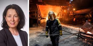 Ett stålverk, som det här i Oxelösund, kräver säker tillgång till enorma mängder energi, skriver Lotta Olsson (M), ledamot av Näringsutskottet. Foto: Anders Wiklund/TT
