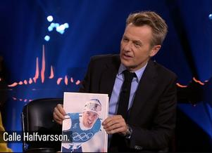 Fredrik Skavlan lät Northug kommentera Gunde Svan, Stina Nilsson, Calle Halfvarsson och Zlatan Ibrahimovic. Foto: SVT
