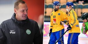 Michael Carlsson tar bland annat in Christoffer Fagerström i truppen inför turneringen i Finland. Bild: Andreas Tagg / TT