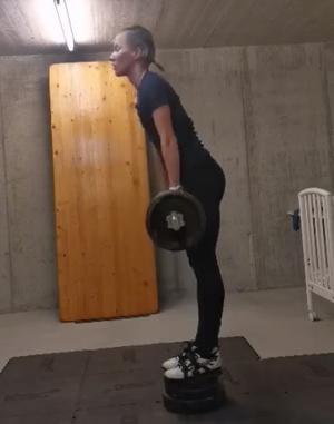 Natalia Gemperle kunde inte träna under nästan tre veckor.