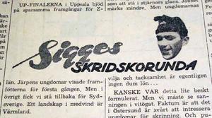 LT hade även externa sportkrönikörer, skridskovärldsmästaren Sigge Ericsson och skidkungen Ragnar Föllinge Persson.