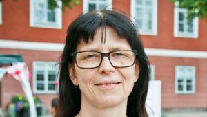 Marie Berglind ingår numera i Feministiskt Initiativs partistyrelse. Bilden är tagen vid ett tidigare tillfälle.