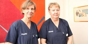 Barnmorskorna Katarina Norberg och Ingrid Blomstergren, tror att satsningen på eftervård ska ge större trygghet. Foto: Vårdbolaget Tiohundra