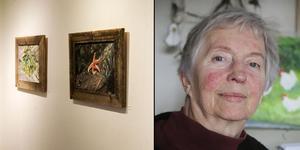 """Ingrid Lindberg ställer just nu ut sin utställning """"Allt börjar med vatten"""" på Järpens kulturhus."""
