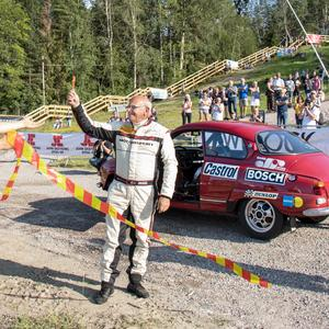 Stig Blomqvist under onsdagen, Midnattssolsrallyts första dag, vid Sörbybacken.