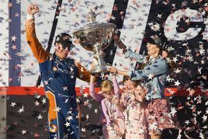 Scott Dixon vann sitt femte Indycarmästerskap 2018 och jagar ännu en titel 2020, nu tillsammans med Marcus Ericsson. Foto: Elijah Nouvelage