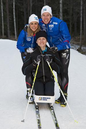 Träningen har fortsatt genom coachning till Aron från Emil och Anna via nätet.