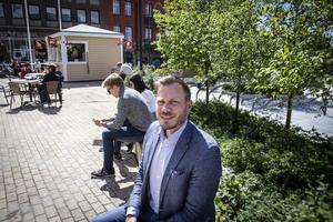 Tobias Classon, regionchef för Sopra Steria, IT-företaget som etablerar sig i Östersund.