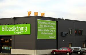 Carspects station i Lerum. Nu öppnar företaget i Dalarna. Foto: Carspect.