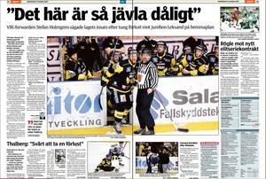 VLT den 25 mars 2009. Dagen efter förlusten mot jumbon Leksand i kvalserien.