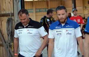 Andreas Sundin och Stefan Bäckström, Masarnas lagledare.