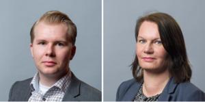 Tony Gunnarsson och Kristin Lahed på Svenskt Näringsliv. (Foto: Stefan Tell)