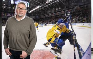 Hockeypuls krönikör Per Hägglund hyllar den svenska hockeyorkestern Juniorkronorna med dirigenten Erik Brännström i spetsen. Bild: Bildbyrån