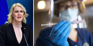 Socialminister Lena Hallengren (S) om vaccinleveranserna som kommer. Arkivbild.