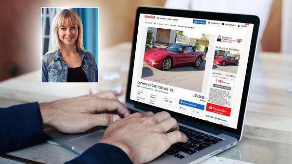 Linnéa Aguero, PR- och presschef på Blocket, har ett flertal bra tips om du vill köpa eller sälja bil. Bild: Blocket/pressbilder