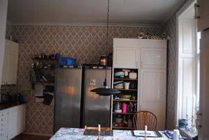 Köket före renoveringen. Splittrat och med delar från olika decennier.Foto: Privat