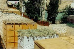 Judiska lövhyddor i Jerusalem. Foto: Yoninah