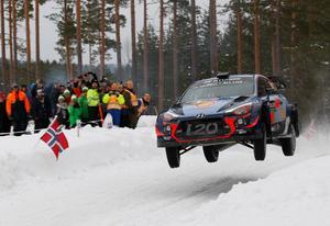 Belgaren Thierry Neuville vann Svenska rallyt och gick också upp i VM-ledning.Foto: Micke Fransson/TT