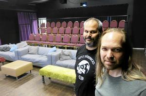 Andreas Lönnberg och Roger Thollin på Bio 7:an.