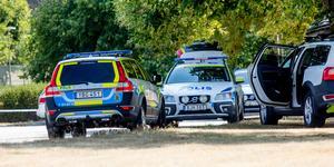Polisen på plats vid Viaduktmordet