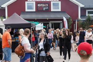 Lördagens marknad under Härdalsyran blev mycket välbesökt.